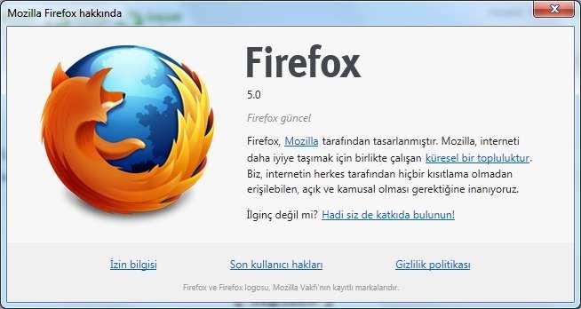 Mozilla Firefox v5.0 Beta 5
