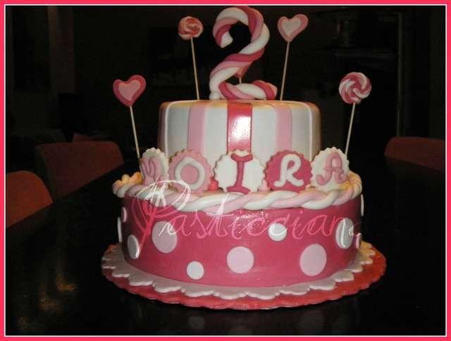 Amato Torta con girandole e cuoricini - 2 anni Bimba KK54